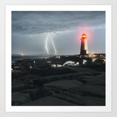 Luminous Discharge Art Print