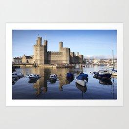 Caernarfon Castle, North Wales Art Print