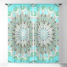 Tropical Floral Mandala Sheer Curtain