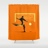 soccer Shower Curtains featuring Soccer by Enzo Lo Re