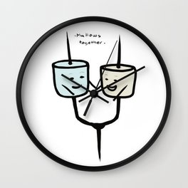 Mallows Together Wall Clock