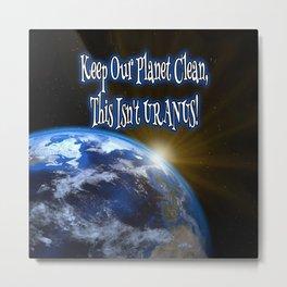 Clean Planet Metal Print