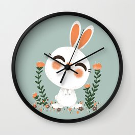 "The ""Animignons"" - the Rabbit Wall Clock"