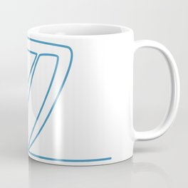 Shield With Check Mark Continuous Line Coffee Mug