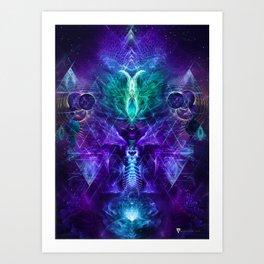 Psychonaut - Fractal Manipulation - Psychedelic Visionary - Manafold Art Art Print