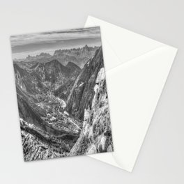 Alps Mountain Valley Stationery Cards