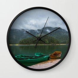 Black Lake Wall Clock