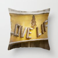 philosophy Throw Pillows featuring Simple Philosophy by Kimberley Britt
