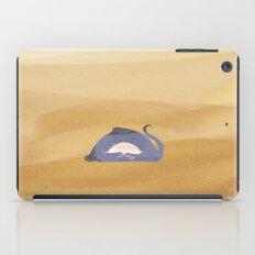 little dragon is sleeping in the sand illustration iPad Case
