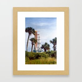 Apollo 8 - Tropical Launch Pad Florida Framed Art Print