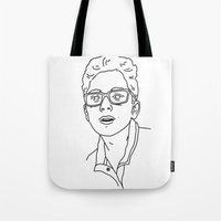 allyson johnson Tote Bags featuring Alex Johnson by Alex Johnson