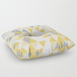 Abstract Triangles Floor Pillow