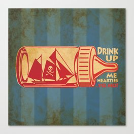 Drink Up Me Heart Canvas Print