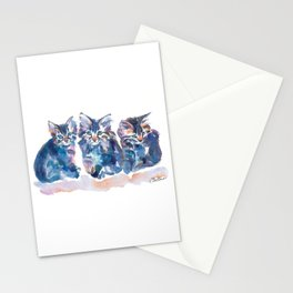 Crazy Quilt Kittens Stationery Cards