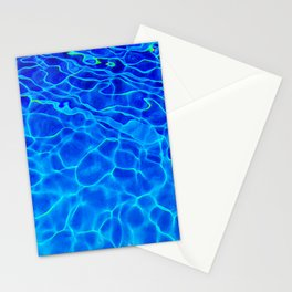 Blue Water Abstract Stationery Cards