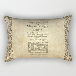 Shakespeare. A midsummer night's dream, 1600 Rectangular Pillow