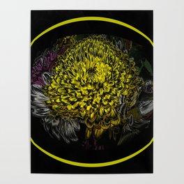 Black Yellow Pink Design Poster