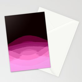 Mauve Magenta Burgundy Digital Ombre Gradient Stationery Cards