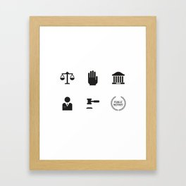 An Honest Lawyer Framed Art Print