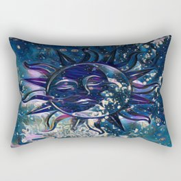 Dream Escape Sun Moon Rectangular Pillow