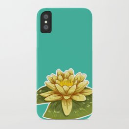 Cute Yellow Lily Pad iPhone Case