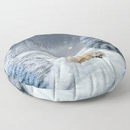 Sleeping polar fox Floor Pillow