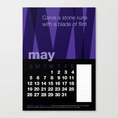 2013 Pigment to Pantone Calendar – MAY Canvas Print