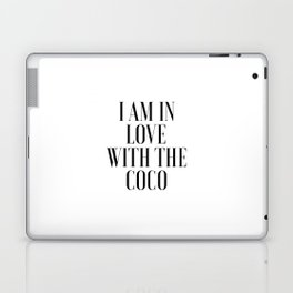 Poster I am In Love With The Coco Song Lyrics Printable Art Lyrics Art Gift For Her Fashionista Laptop & iPad Skin