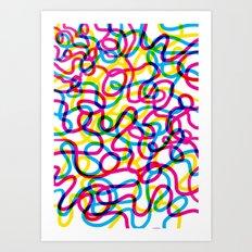 Bright Stripes Art Print