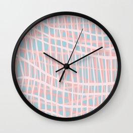 Net Blush Blue Wall Clock