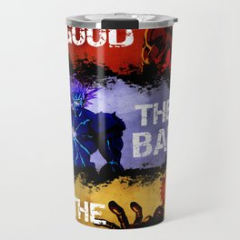 The Good The Bad The Cyborg - One Punch Man Travel Mug