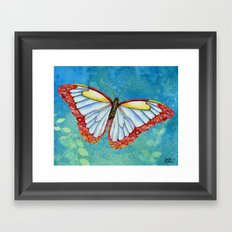 Stained Glass Butterfly Framed Art Print