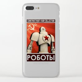 Robot Constructivist Art USSR Clear iPhone Case