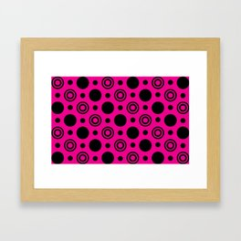 Hot Pink Nights Framed Art Print