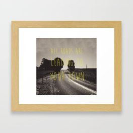 Days End. Framed Art Print