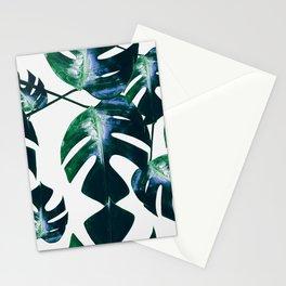 Monstera pattern Stationery Cards