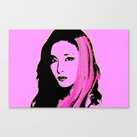 2ne1 Canvas Prints featuring Sandara Park (Dara - 2NE1) by Hileeery