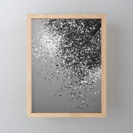 Sparkling Silver Gray Lady Glitter #1 #shiny #decor #art #society6 Framed Mini Art Print