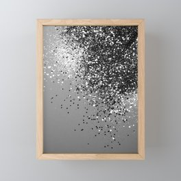 Sparkling Silver Gray Lady Glitter #1 #shiny #decor #art #society6 Framed Mini Art Print