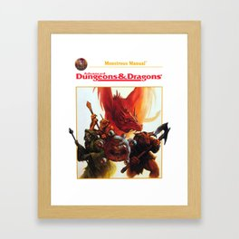 dungeons and dragons - advanced Framed Art Print