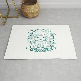 Kawaii Kiddies Cute Mermaid Rug