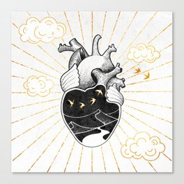 Desert Heart Inktober :: More Magick Canvas Print