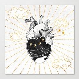 Desert Heart Inktober :: More Magick Canvas Print