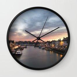 Harbour Sunrise Wall Clock