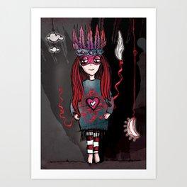 Anxious Brave Art Print