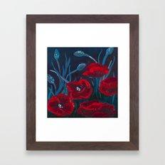 Crimson Poppies Framed Art Print