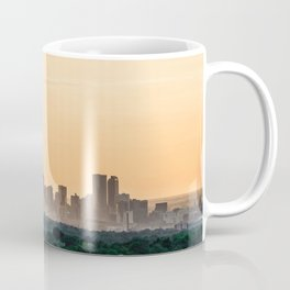 Downtown Denver // Vast Orange Yellow Sunset Sky Blue Clouds Skyline Coffee Mug