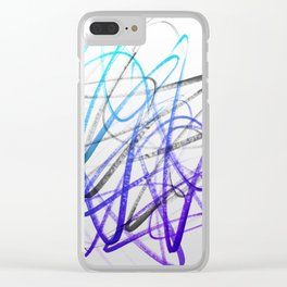 Expressive and Spontaneous Abstract Marker Clear iPhone Case