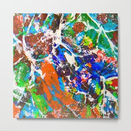 Neurons and Synapse in the Mind. Make a Memory Metal Print