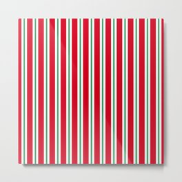Christmas Stripe - Wide Small Wide Metal Print